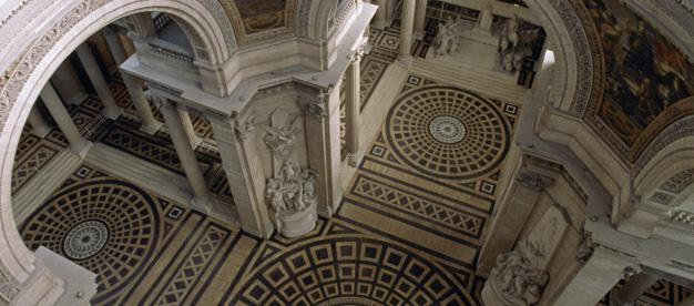 Panthéon, croisée du transept et choeur vus en plongée