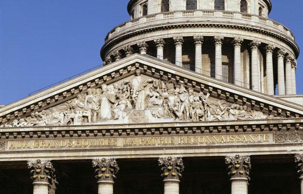 Le fronton au Panthéon